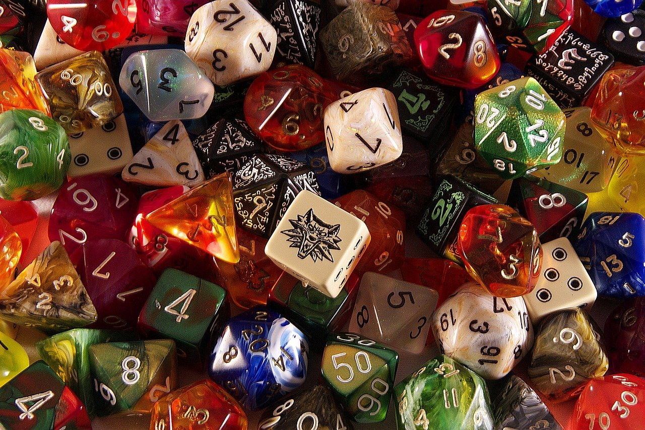 dice, game, role playing game